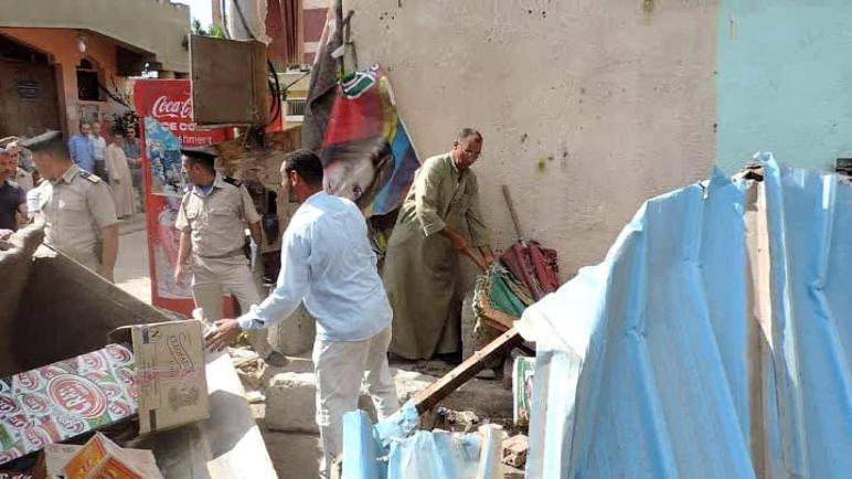 حمله من مديرية أمن كفرالشيخ لإزالة الاشغالات