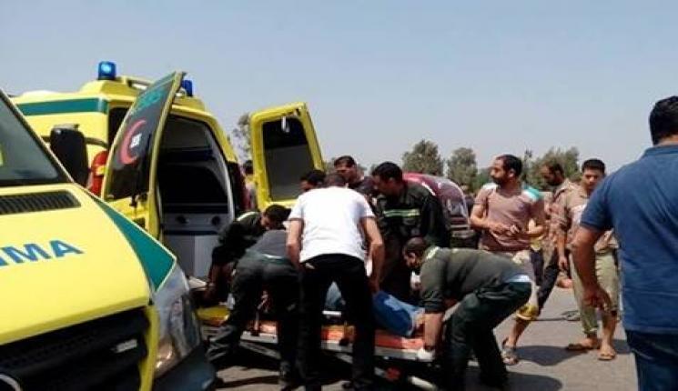 مصرع شخصين في حادث تصادم دراجة نارية وسيارة بسوهاج